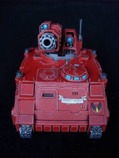 HunterTank in Blood Angels colours - Commission